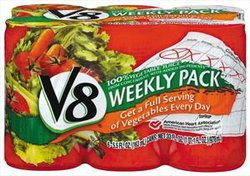 V8 Vegetable Juice 6 Pack (5.5 oz Cans)